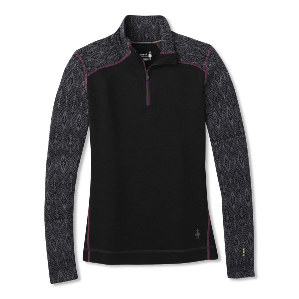 Merino 250 Baselayer Pattern 1/4 Zip Damen Langarmshirt