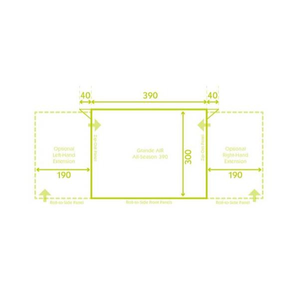 Grande Air All-Season 390 Wohnwagenvorzelt 2020 Modell