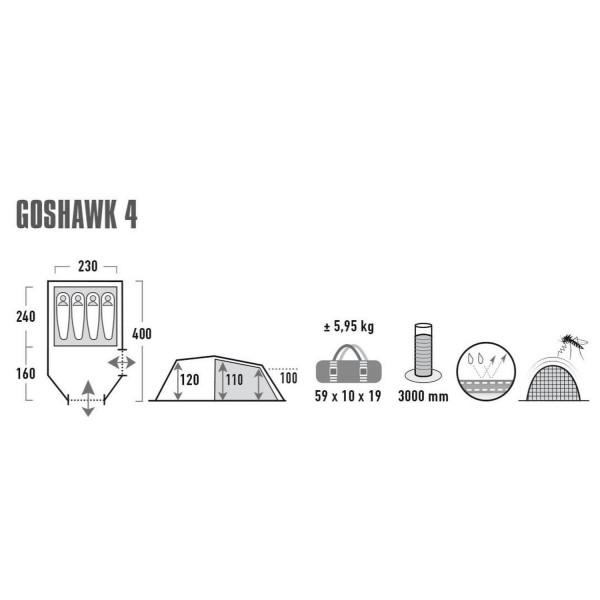 Goshawk 4 Tunnelzelt