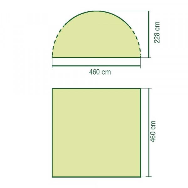 Event Shelter Deluxe Sunwall with Window & Door Tür-Seitenwand