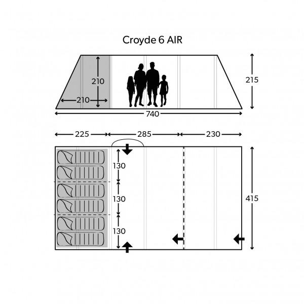 Croyde 6 Air Familienzelt
