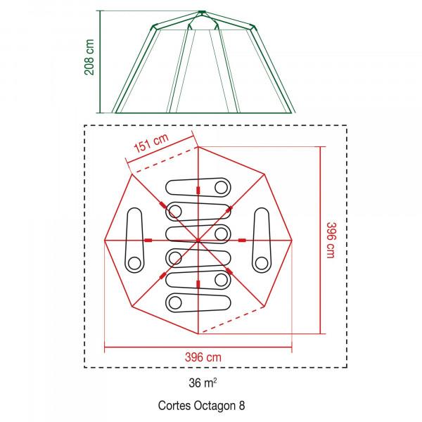 Cortes Octagon 8 Familienzelt
