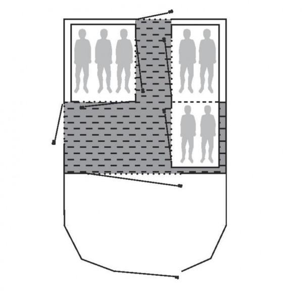 Alabama 7P 3-Lagen Teppich 190 x 460 cm