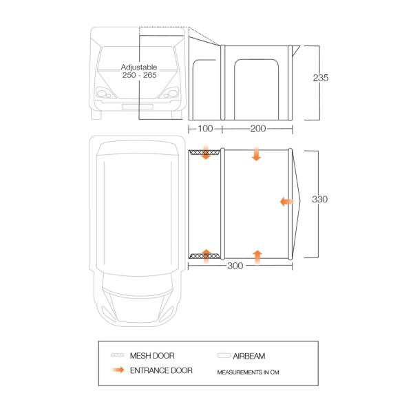 Motor Montelena 330 -Large Wohnmobilvorzelt