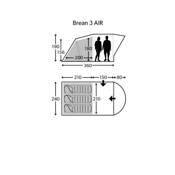Brean 3 Classic Air Familienzelt