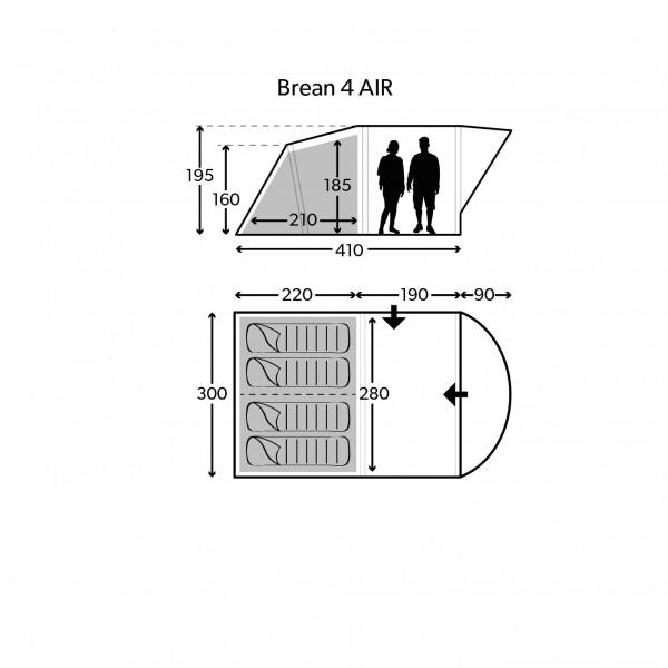 Brean 4 Air Familienzelt