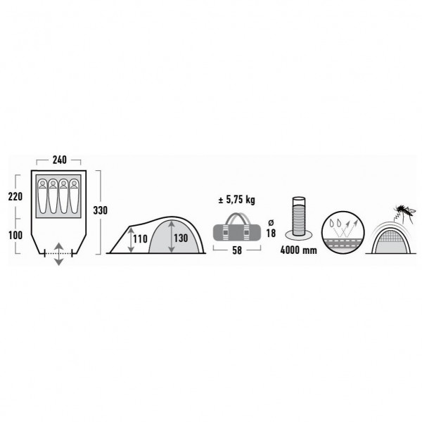 Talos 4 Campingzelt