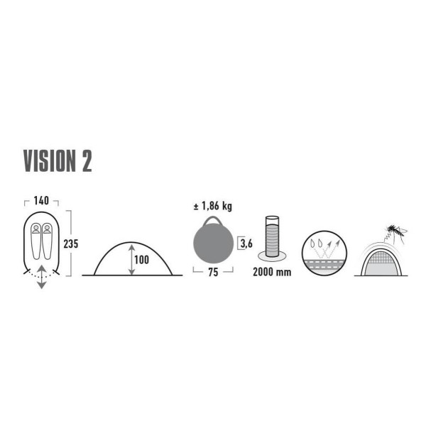 Vision 2 Pop-Up-Zelt