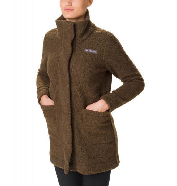 Panorama Long Jacket Damen Fleeceparka