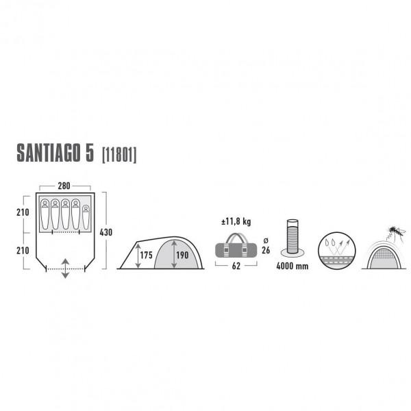 Santiago 5 Familienzelt