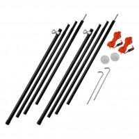 Adjustable Steel King Poles 180-220cm