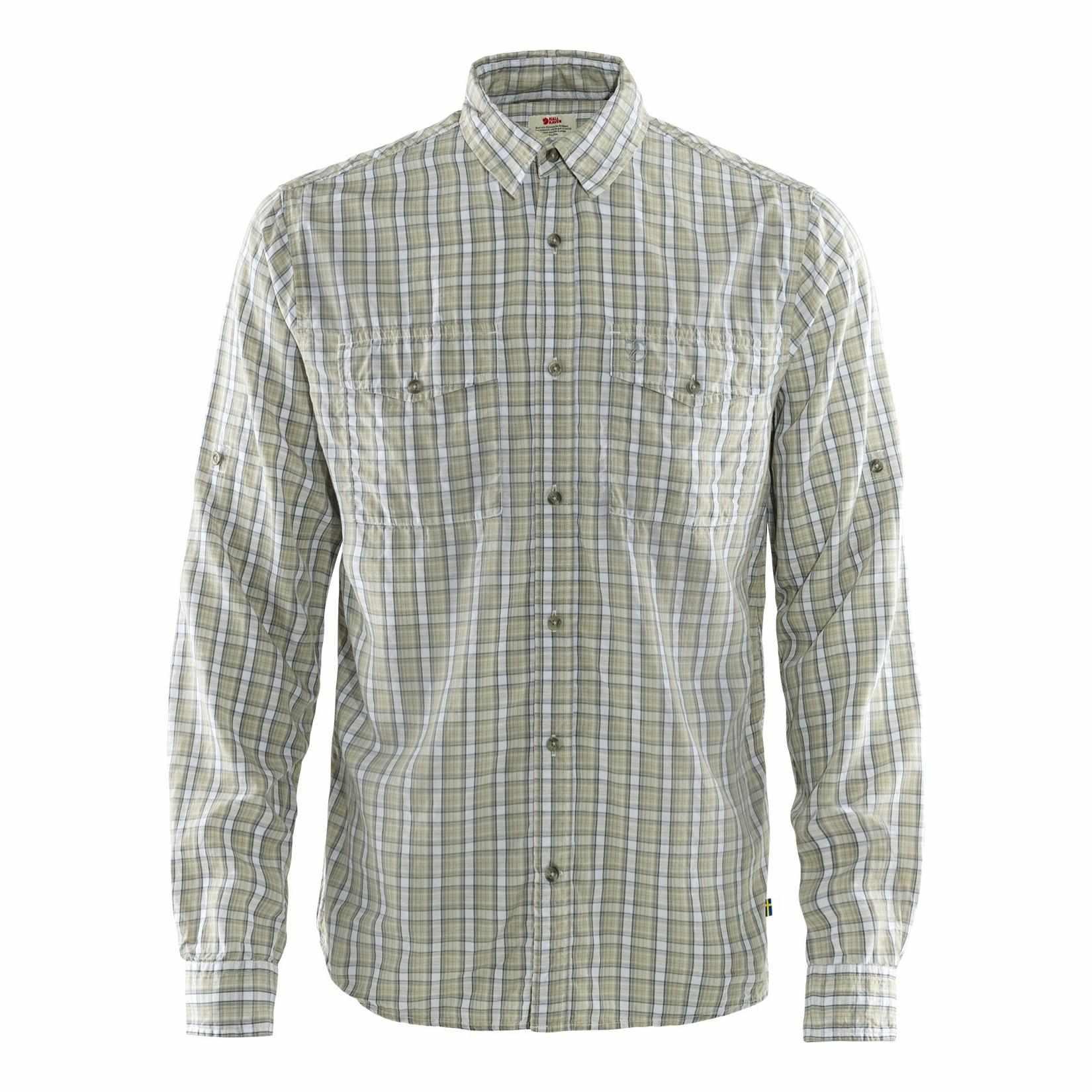 Image of Fjällräven Abisko Cool Shirt LS Herren Outdoorhemd grau-beige Gr. XXL