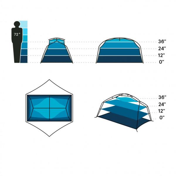 Aurora 2P Trekkingzelt inklusive Unterlage