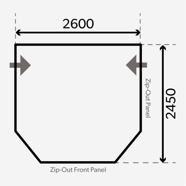 Pop Air PRO 260 Wohnwagenvorzelt