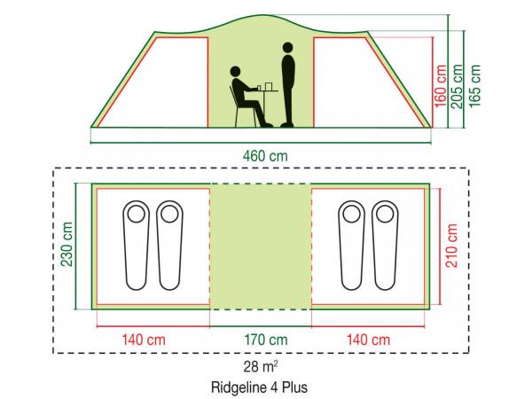 Ridgeline 4 Plus Familienzelt