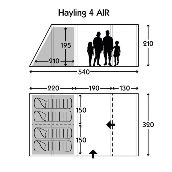 Hayling 4 AIR Familienzelt