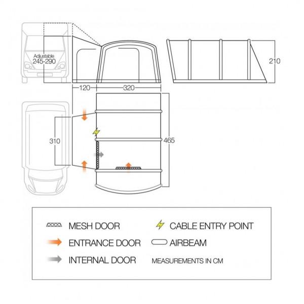 Rhone Tall Wohn- und Reisemobilvorzelt