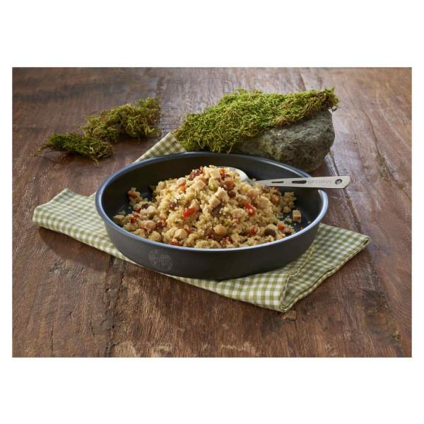 Couscous mit Hühnchen Trekkingnahrung