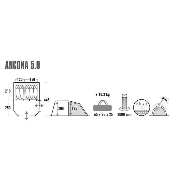 Ancona 5.0 Familienzelt
