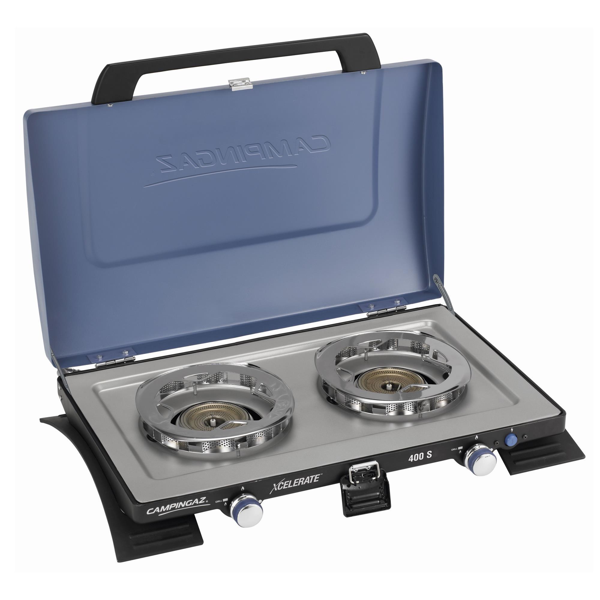 Campingaz 400 SG (Kocher mit Grillplatte, mit Xcelerate™ Brenner) Kocher blau-schwarz