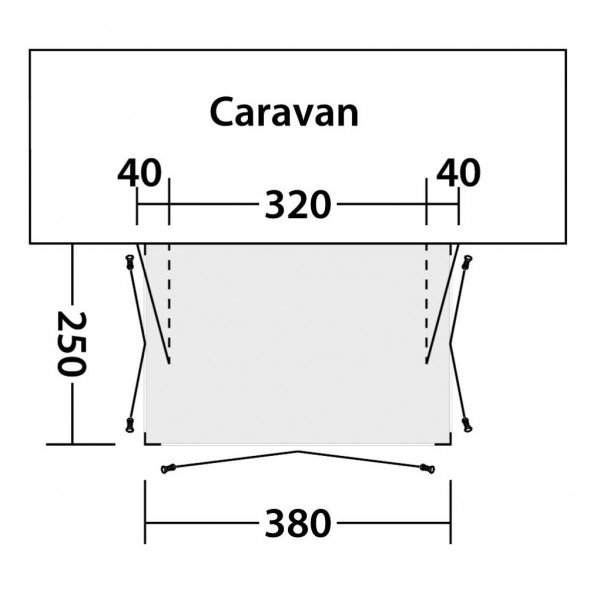Bay 380A Wohnwagenvorzelt