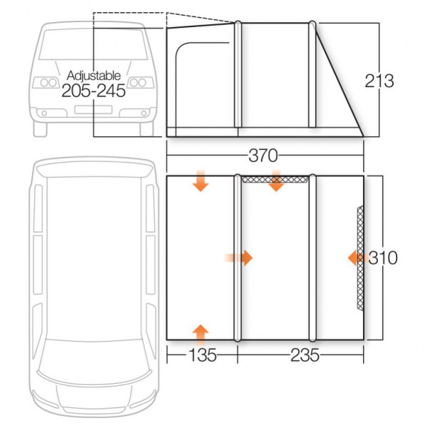 Kela V Std Air Bus- und Reisemobilvorzelt